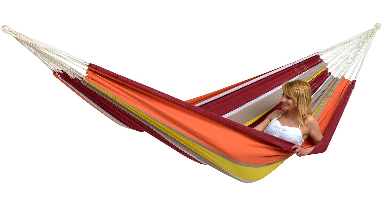 Oranje Hangmat 2 Persoons Barbados Acerola kopen Hangmatten