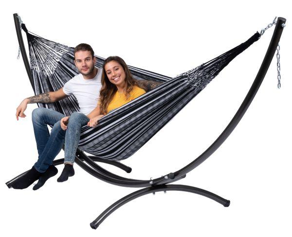 Hangmatset 2 Persoons Arc & Comfort Black White
