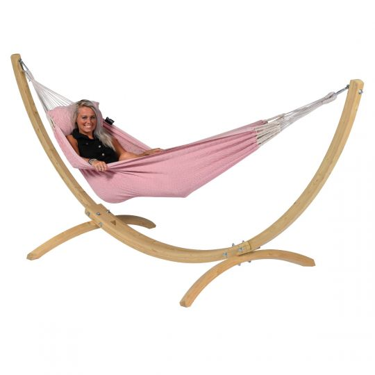 Hangmatset 1 Persoons Wood & Natural Pink
