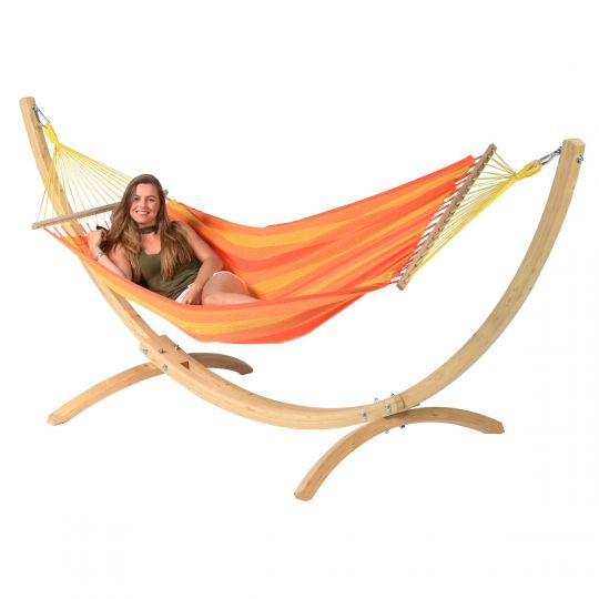 Hangmatset 1 Persoons Wood & Relax Orange