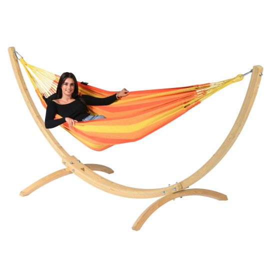 Hangmatset 1 Persoons Wood & Dream Orange