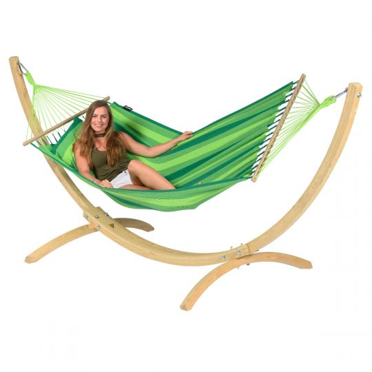 Hangmatset 1 Persoons Wood & Relax Green