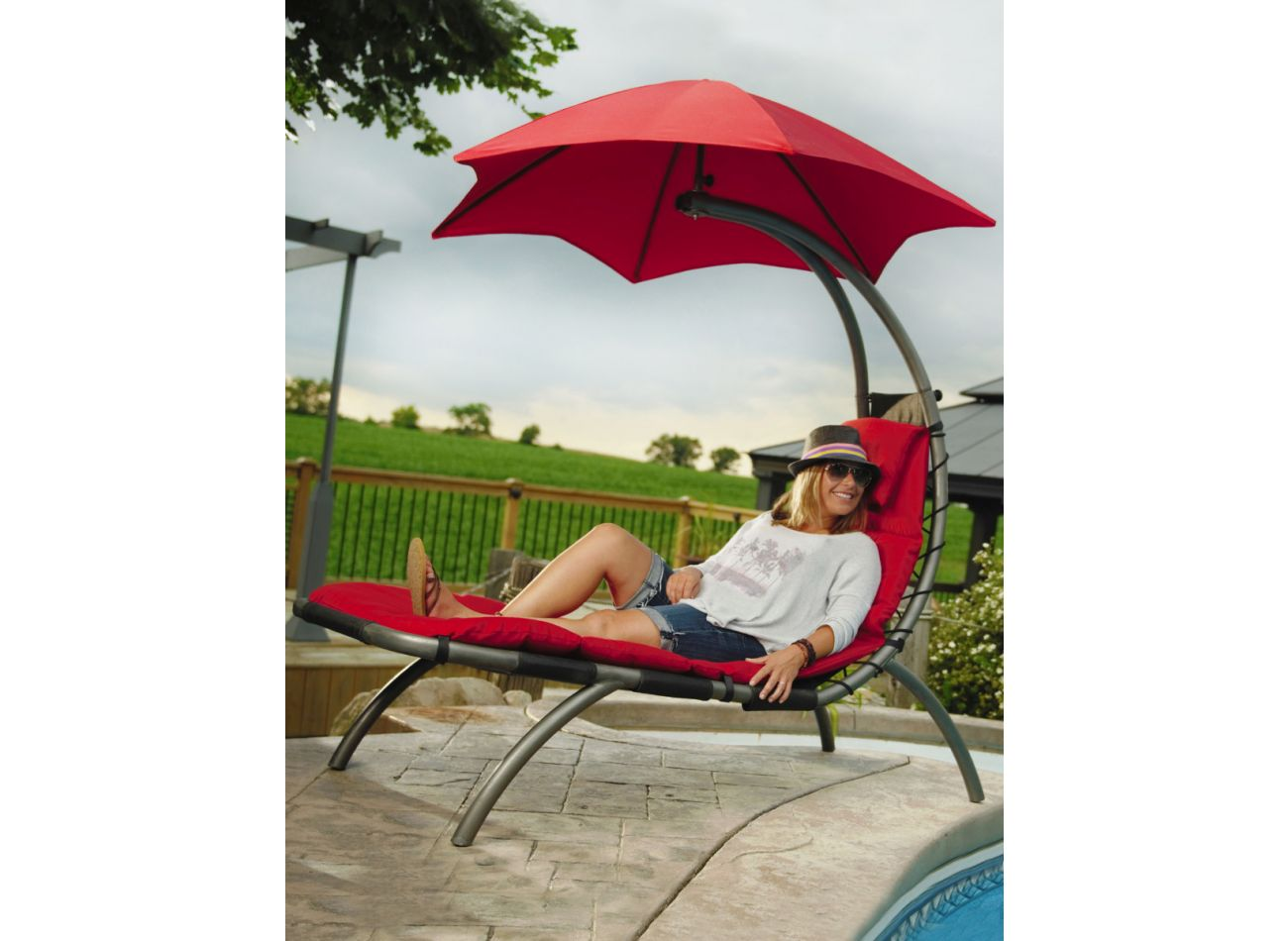 Original 1 Persoons Dream Lounger Red