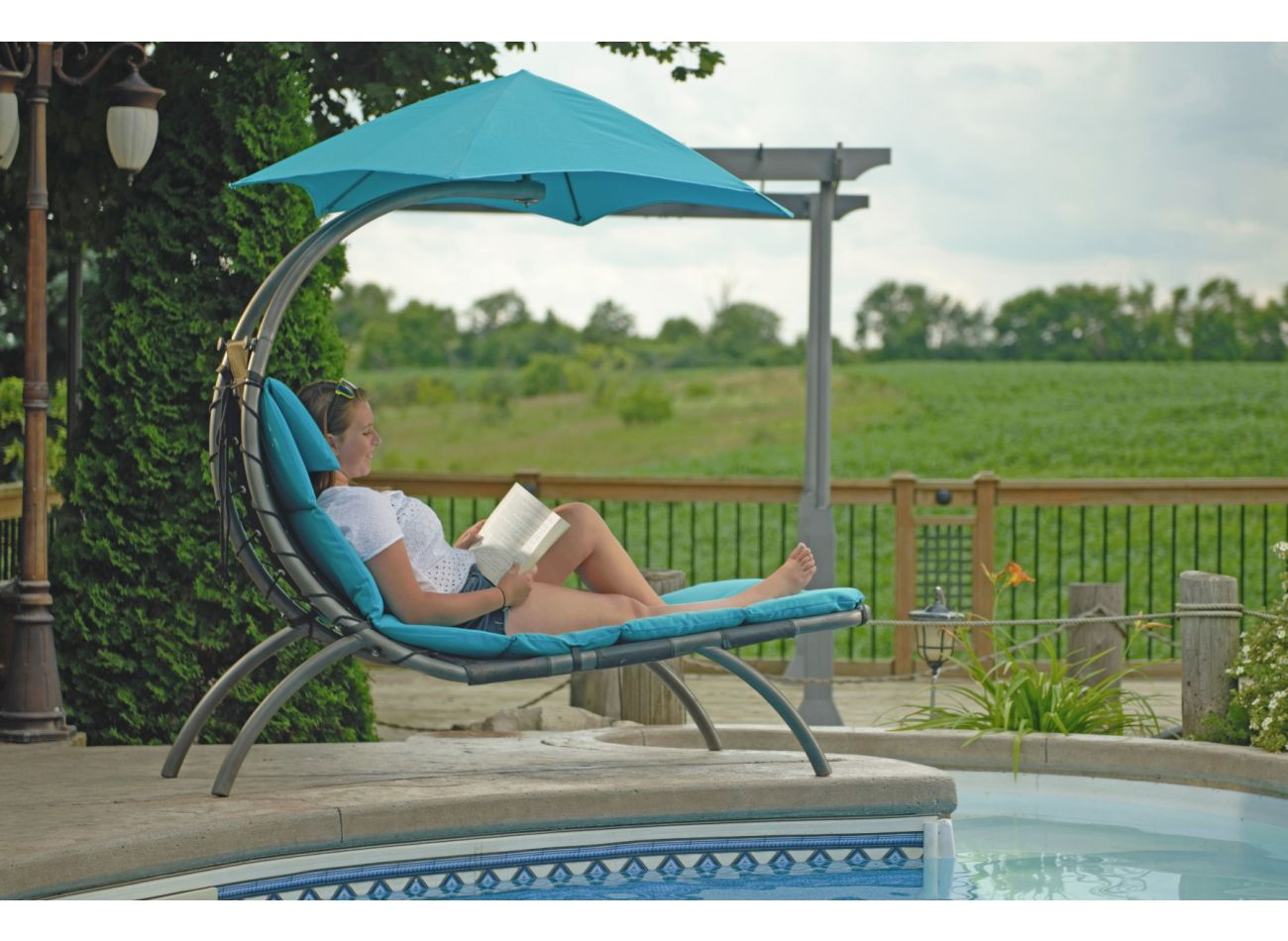 Original 1 Persoons Dream Lounger Turquoise