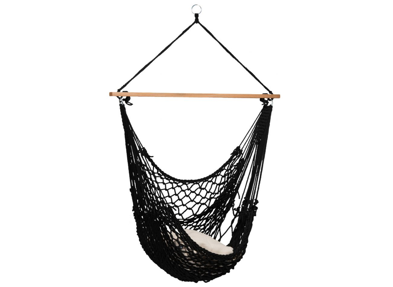 Hangstoel 1 Persoons Rope Black