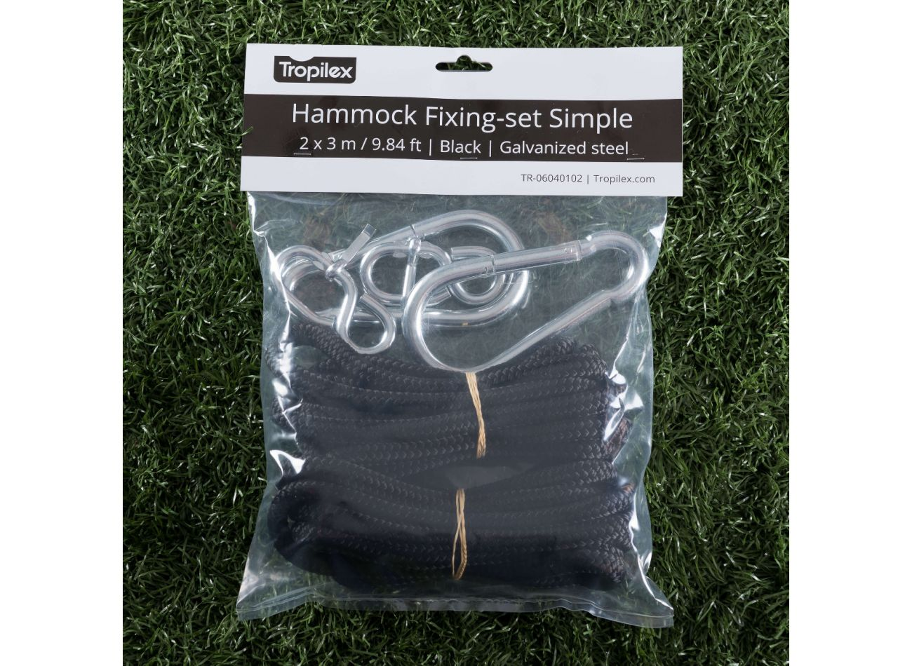Ophangset Hangmat Simple Black
