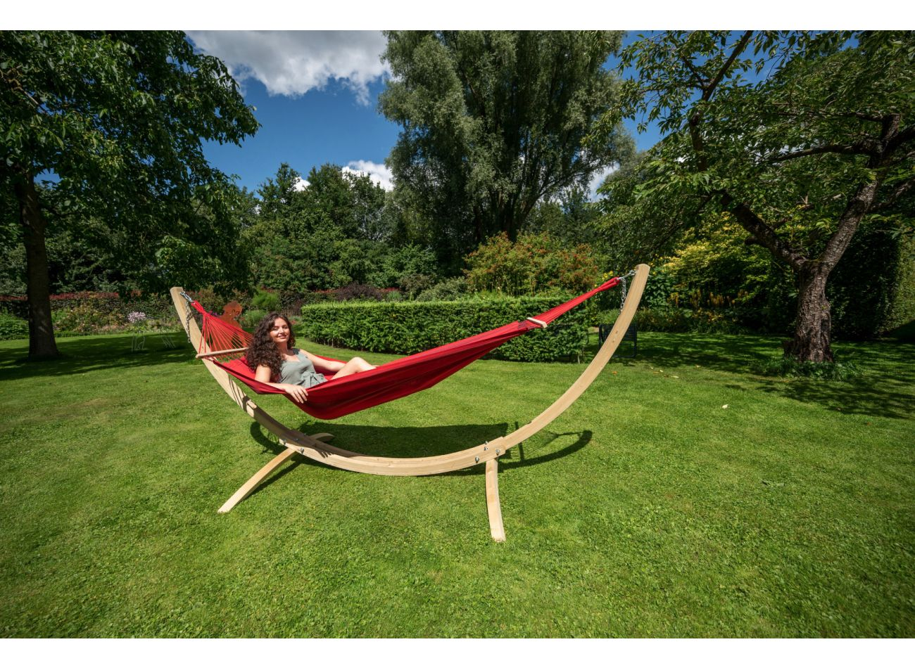 Hangmatset 1 Persoons Wood & Relax Red