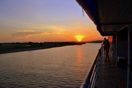 Rivierboot over de Amazone