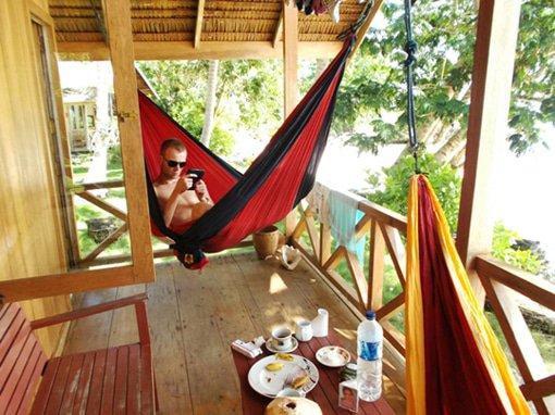 Hangmat Op Balkon : Een hangmat past in elke tuin
