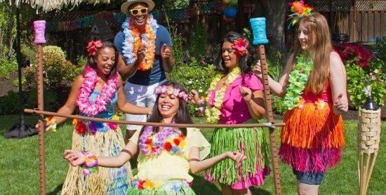 Tropical beach party zomerfeest