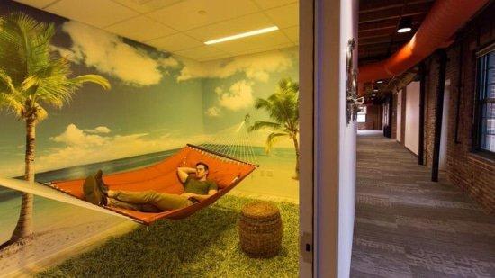 dutje hangmat kantoor HubSpot